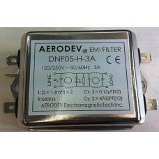 DNF05-H-3A 120-250 V AC 3A Gürültü giderici Aerodev EMI Filitre
