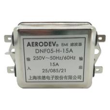 DNF05-H-15A 250 V AC 15A Gürültü giderici Aerodev EMI Filitre