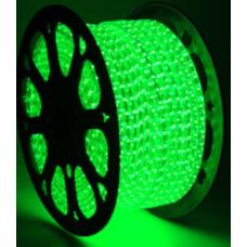 5050 220 V AC Tek Çip Yeşil 50 mt Hortum Led