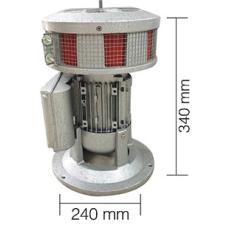 AS0070 550 W 220 V AC 50 Hz 160 db Asenkron Motorlu Döküm Siren