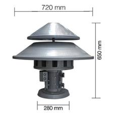 AS0075 110 V AC 1100 W 50 Hz 220 dB 6Nolu Asenkron Motorlu Döküm Gövde Sivil Savunma Sireni