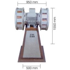 AS0084 11000 W 380 V AC 50 Hz 290 db Asenkron Motorlu Çift Fanlı Döküm Siren