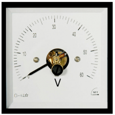 ST4 96x96 240°Döner bobinli ve oynar demirli pano Tipi AC-DC Voltmetre