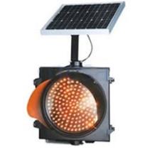 AS8038 10 W 12 V 7 Ah Panelli Solar LED Trafik Lambası