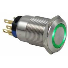 D1 19 mm Metal LED'li Kalıcı Buton