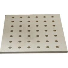 KDP4040 Kordierit delikli Plaka 400 x 400 x 15 mm Fırın Rafı