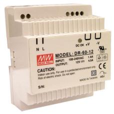 DR-60-12 60W 12VDC 4.5A Ray montaj Güç Kaynağı