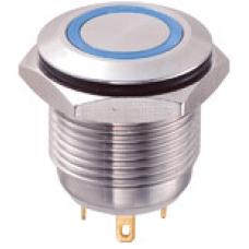 GQ16F-10E 16mm Metal LED li Yaylı Buton
