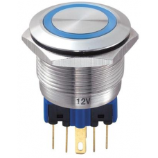 GQ22-11E,22mm LED li Metal Buton Yaylı