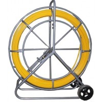 GFR-11 11 mm 150 mt Glass fibre rod spooled on a galvanized vertical wheeled cage