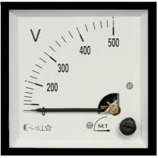 ST3 96x96 90°Döner bobinli ve oynar Demirli AC-DC Voltmetre