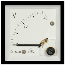 ST2 72 x 72 90°Döner bobinli ve oynar Demirli AC-DC Voltmetre