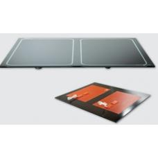 R1043 2 x 500 W 220 V AC 52 x 66 cm Hot Glas İki kademe Silikon+Cam Rezistans