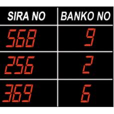 SGA-3 Satır Seven Segment İnteraktif Ana Tablo