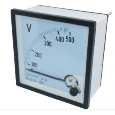 V72-250 72x72 0-250V AC Panel tipi Analog Voltmetre