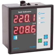 GA87111 GA-DVS/72-2 72x72 Çift ekran setli AC-DC Voltmetre